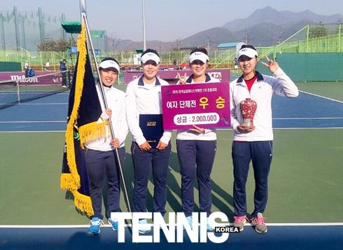16일 영월스포츠파크 테니스코트에서 열린 2015년 제1차한국실업테니스연맹전 단체전에서 우~.JPG